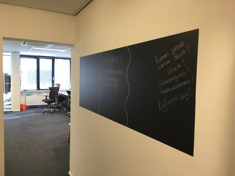 Flexibele krijtbordfolie kantoorwand 2