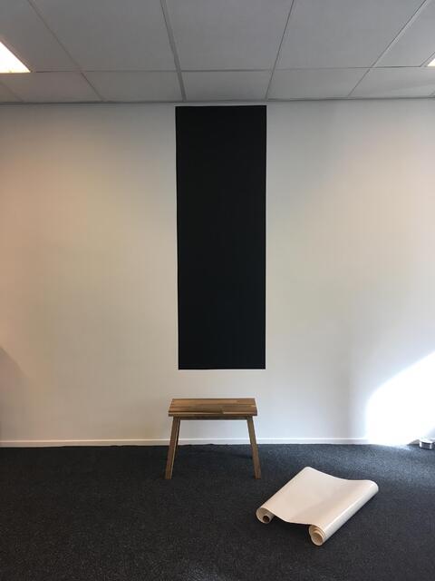Flexibele krijtbordfolie kantoorwand 3