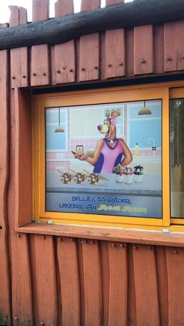 Avonturenpark Hellendoorn etched glass folie