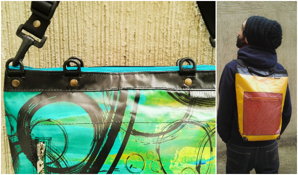 Collage banner bags