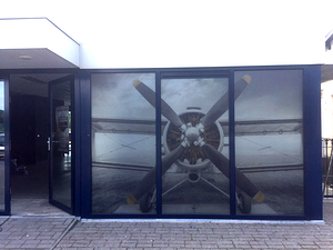 Glass Deco dusted_Vliegveld Seppe