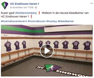HC Eindhoven geeft kleedkamers make over met muur stickers