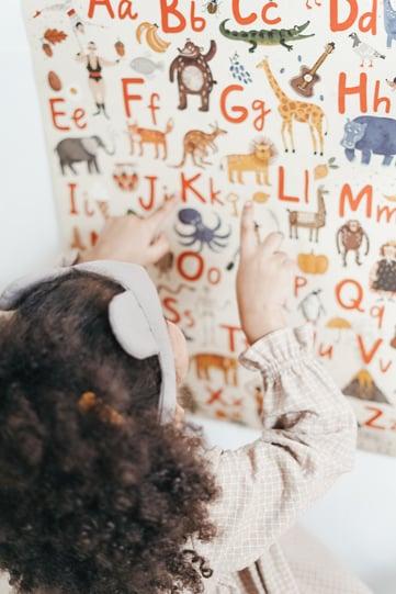 Wallpaper kinderdagverblijf alfabet
