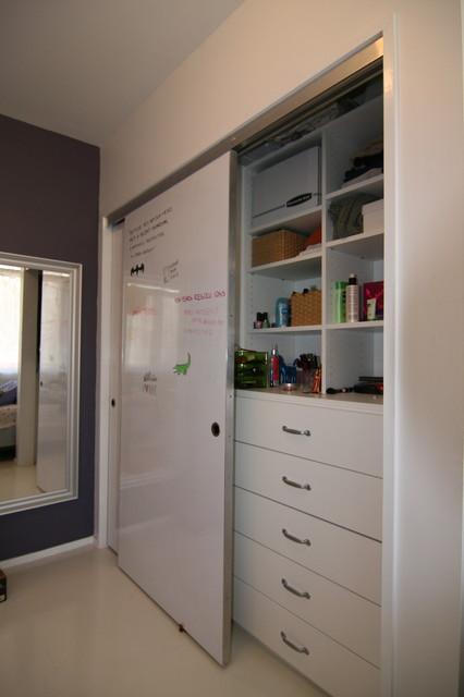 Whiteboard deursticker - voorbeeld woning