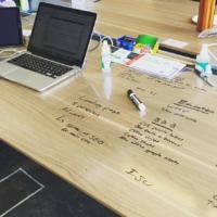 Whiteboard laminaat bureau