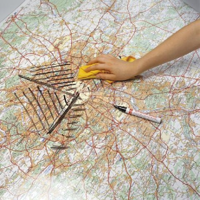 Whiteboard laminaat landkaart