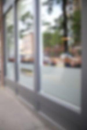 Winkelleegstand raam beplakken