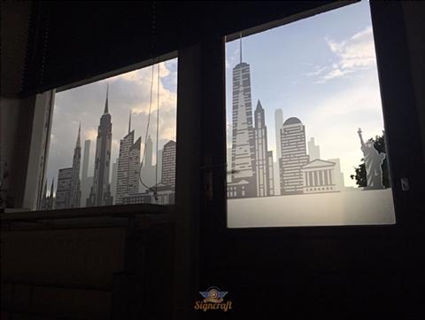 Zelfklevende folie interior design - etched glass 2