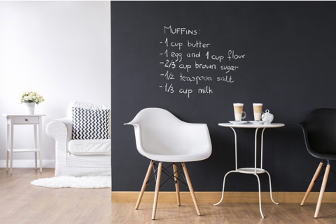 Zelfklevende folie interior design - krijtbord behang